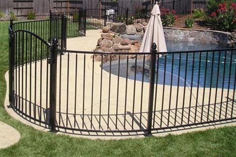 Boston Wrought Iron Pool Fence